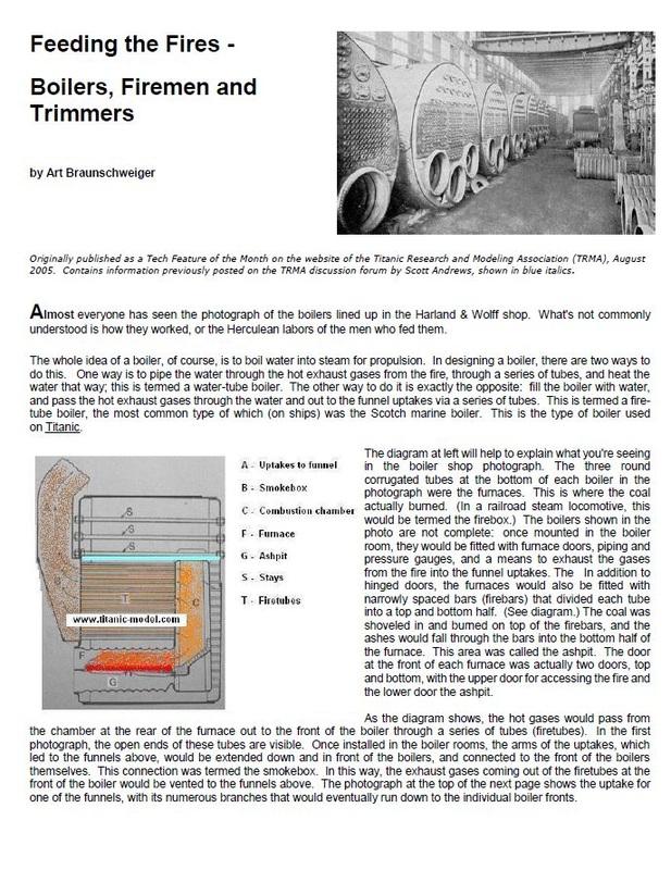 Titanic Engine Room Scene: Titanic At Cherbourg